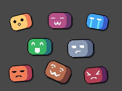 Pixel-Art Discord Emotes pixelart pixel-art discord emotes emoji
