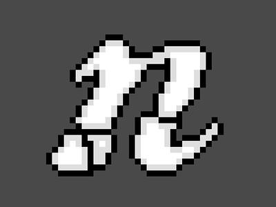 """n0j0games""-Icon letter pixelart pixel-art icon"