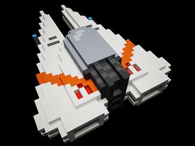 3D-Spaceship voxel art voxelart voxel 3d