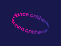 Dance Anthems Typography