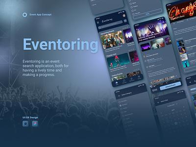 Event App Concept figma photoshop ux ui design dark mode app