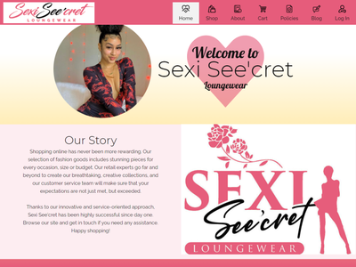 Sexi See'cret 1 flat web ux logo design