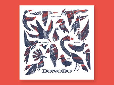 Bonobo poster vermont burlington ink migration bonobo gigposter poster print silkscreen screenprint