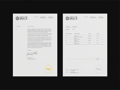 CSC Letterheads identity design invoice letterhead packaging identity grid typeface brand graphic design typography branding logo design