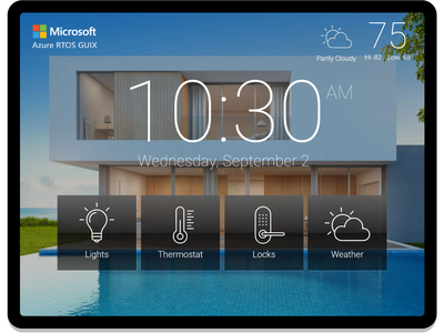 Embedded GUI for Home Automation uiux gui embedded gui