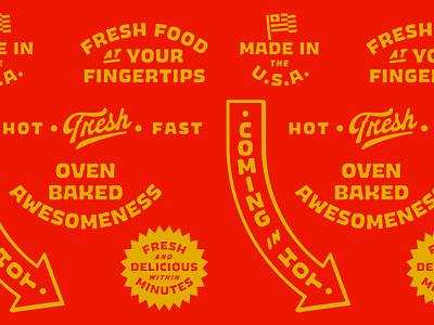 Baked vending baked type lettering illustration branding