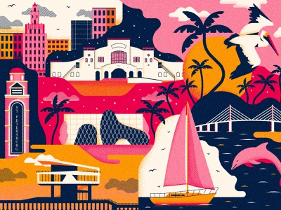 Saint Pete florida st pete print design illustration