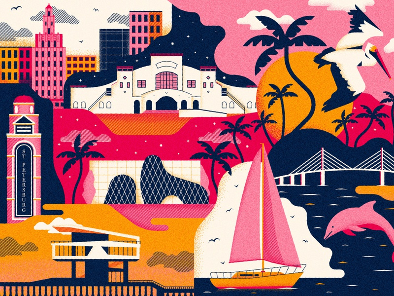 Saint Pete florida st pete print design illustration