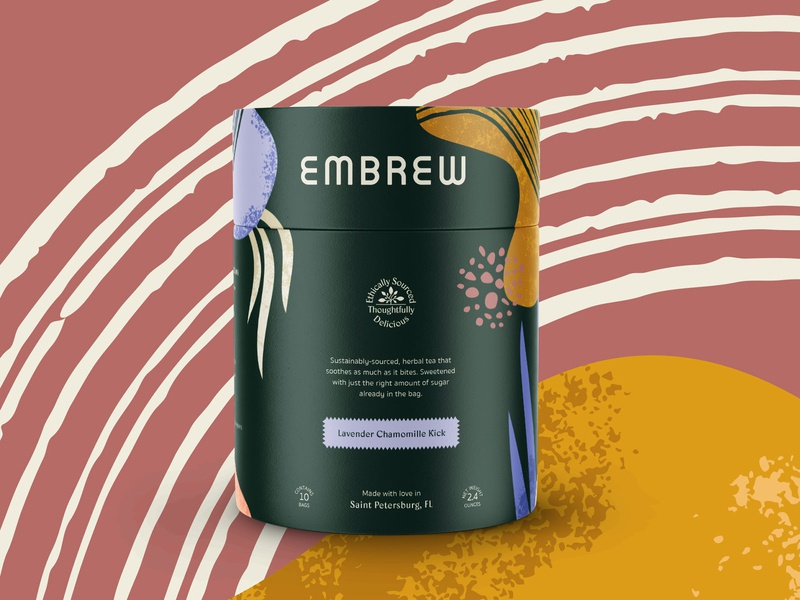 Embrew Packaging branding tube packaging tea