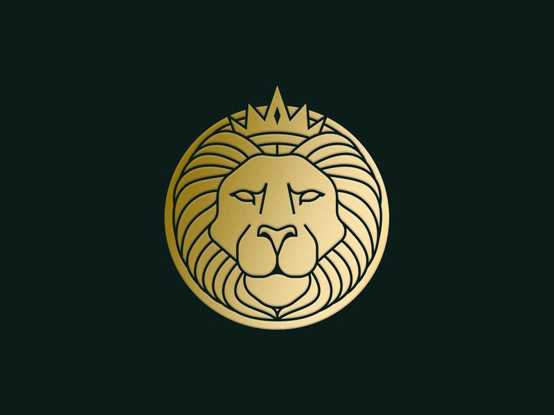 Lion King logo brand crown lion king lion illustration