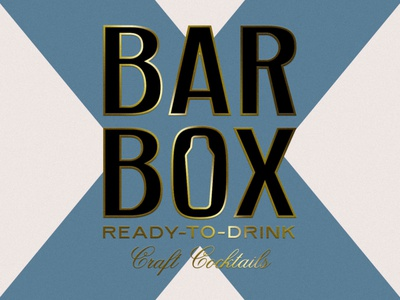 BARBOX spirits packaging cocktail design logo branding
