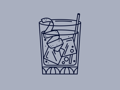 Cocktail bartender illustration drink old fashioned cocktail