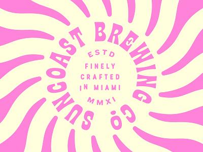 Suncoast Brewing florida logo branding funky type beer brewery miami