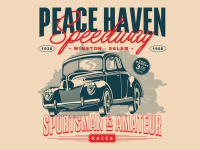 Peace Haven Speedway north carolina races tshirt winston-salem speedway