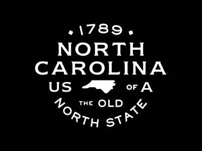 NC vintage type lockup usa nc north carolina