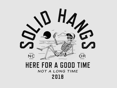 Solid Hangs 2018 beach skull type illustration solid hangs