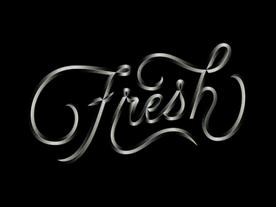 Fresh type texture bevel lettering typography
