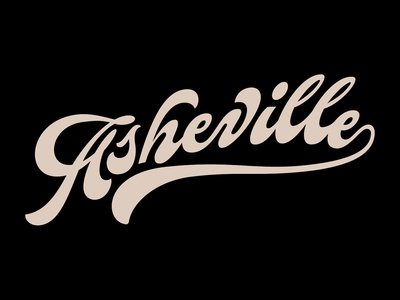 Asheville funky script nc asheville type lettering