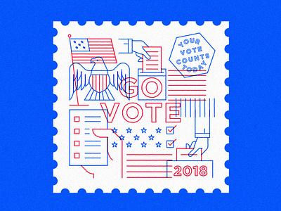 Go Vote illustration elections vote