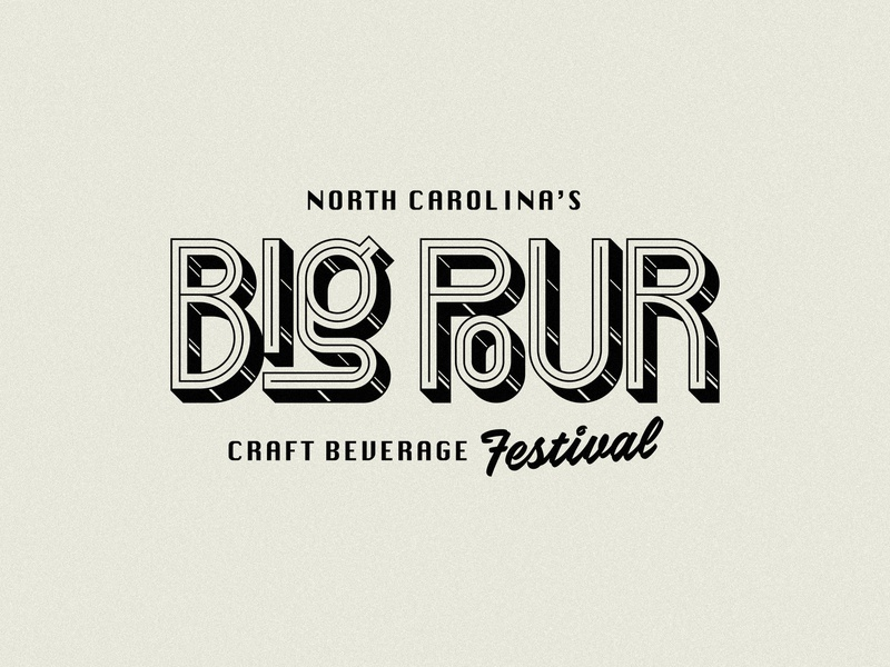 Big Pour craft festival logo type festival beverages big pour