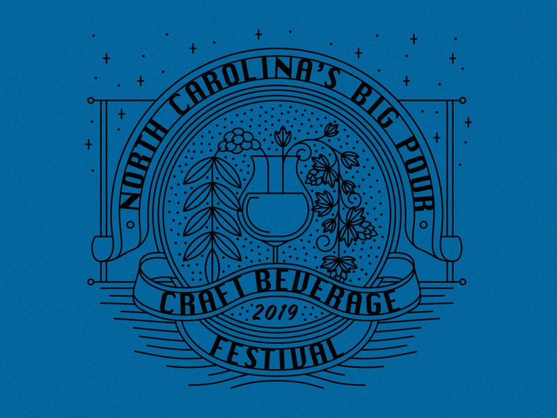 Big Pour coffee craft beer north carolina festival beverage craft illustration