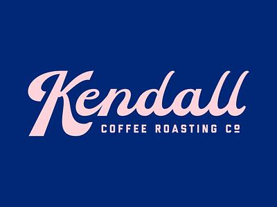 Kendall Coffee Roasting Co. coffee typography branding logo