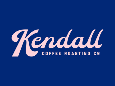 Kendall Coffee Roasting Co. coffee typography branding logo