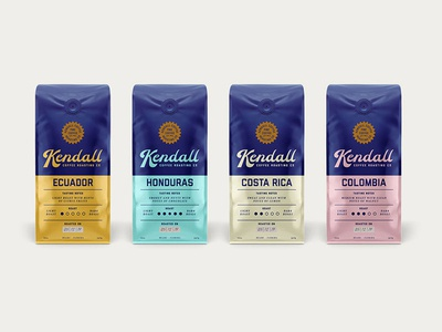 Kendall Coffee Bags miami packaging coffee logo typeface branding