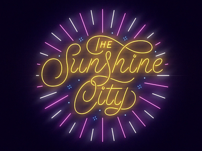 The Sunshine City design typography lettering animation florida st pete sunshine city illustration neon sign