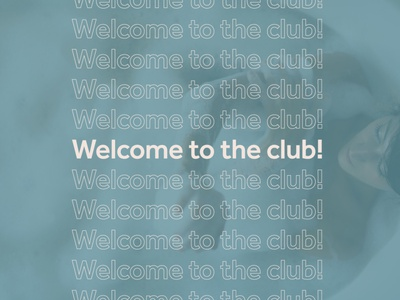 Email Header for Club Loofah design branding simple modern email image poster