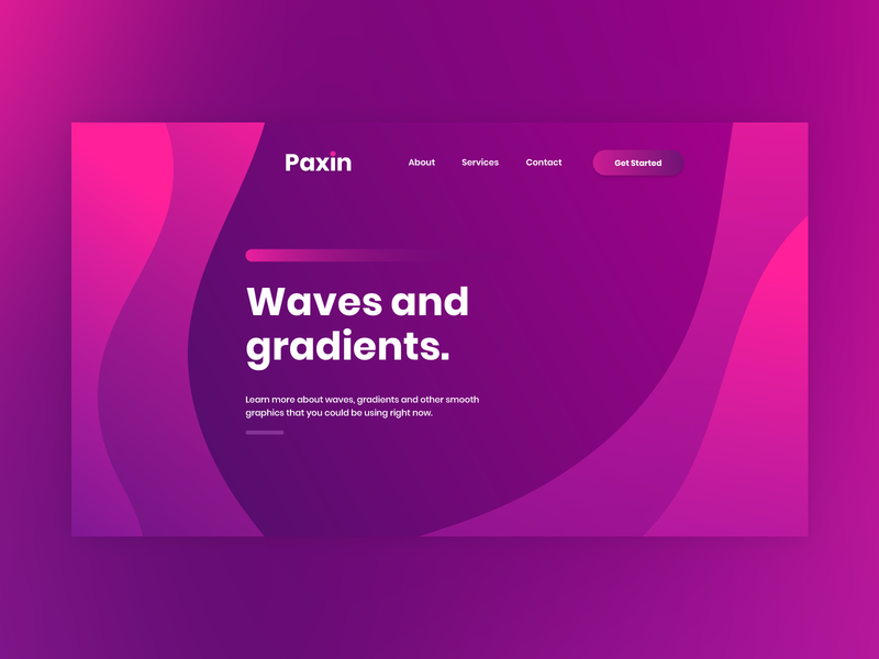 Wave and gradients