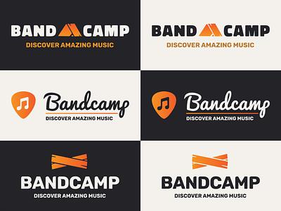 Bandcamp logo redesign gradient illustrator music bandcamp typogaphy branding vector logo