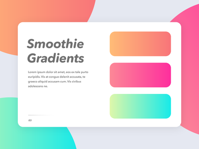 Smoothie Gradients adobe xd card slide fonts rounded random colors gradients design vector