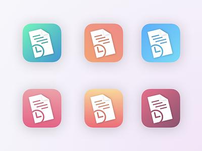 Timesheet App Icon ios vector ux appicon logo app icon