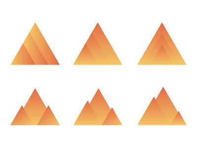 Mountain Triangle Logo Icons design gradients gradient vector icon logo