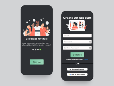 Daily UI 001 - Sign up page app