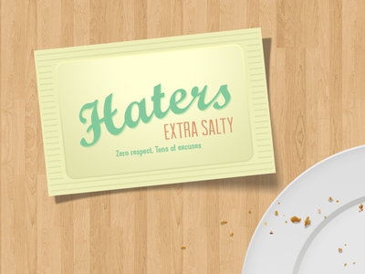 Haters Packet graphic design hater salty one11league miami