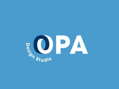 OPA Design Studio minimal swiss mark o typography lockup type modern clean simple logo design austin retro illustration texas