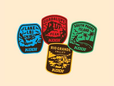 Travel Badges texas vintage retro texture rough illustration badgehundting sticker logo shield patch icon badge travel cooler kodi