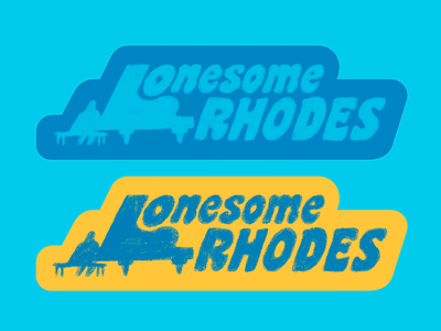 Lonesome Rhodes illustration design rhodes lonesome 70s show retro keyboard texas austin band music type groovy sticker piano