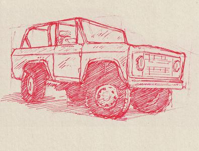 Bronco Sketch