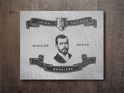 Lucky Luciano Barbiere logo barbershop