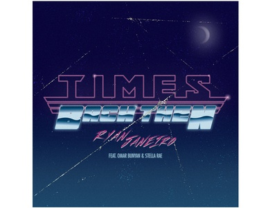 Times Back Then song album cover illustration typography