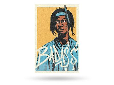 Joey Bada$$ illustration typography hip hop fan art