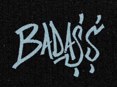 Bada$$ hand letter type typography