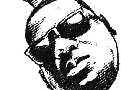 Biggie Sketch illustration typography hip hop portrait