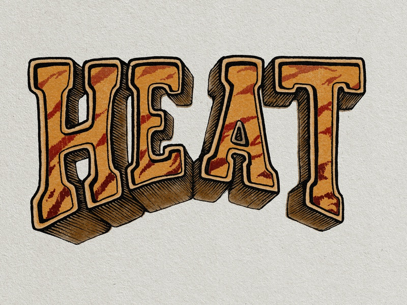 Heat Typography hand letter album cover type hand lettering typography illustration