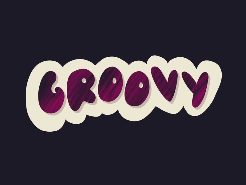 Groovy typography design groovy sketch lettering typography illustration ipadpro hand drawn graphicdesign design lunchdesignco lunch handlettering procreate