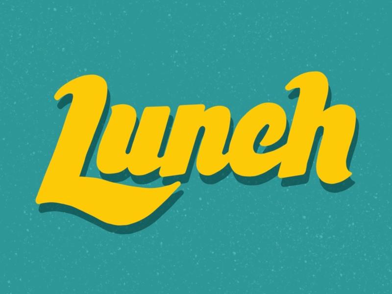 Lunch illustration branding retro procreate ipad pro typography hand typography hand type lunchdesignco lunch