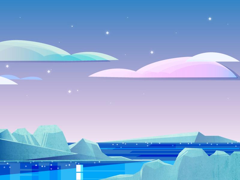 North Pole pole north illustration